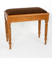 2. Solo Box Stool with Regency Legs and Inset Pad - MS801R